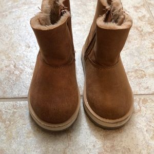 Zara baby winter fur lined boots size 4.5